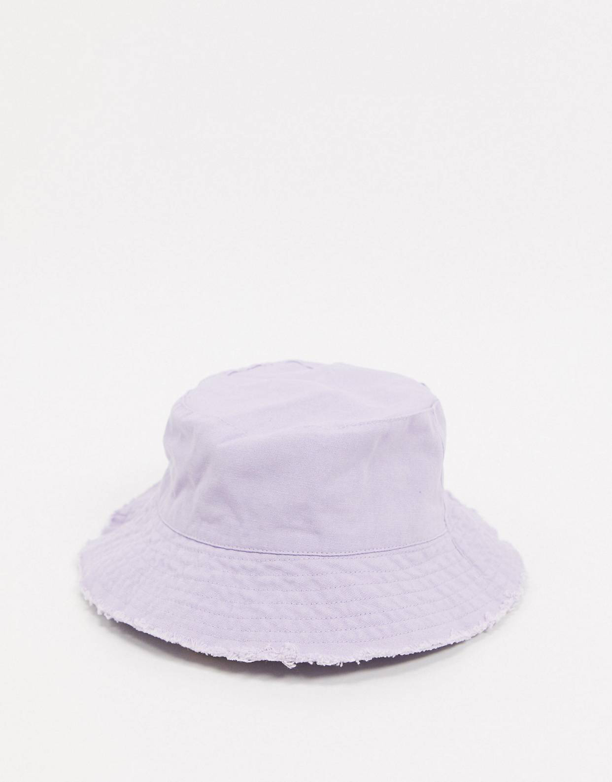 Sombrero de pescador de estilo safari en violeta de ASOS DESIGN