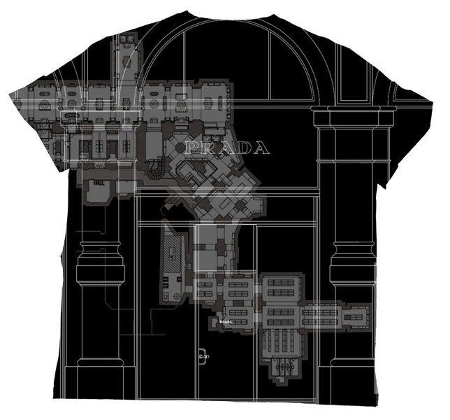 Camisetas arquitectónicas de Prada