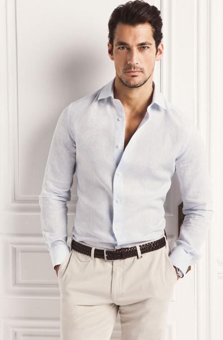 Camisa lino Massimo Dutti David Gandy