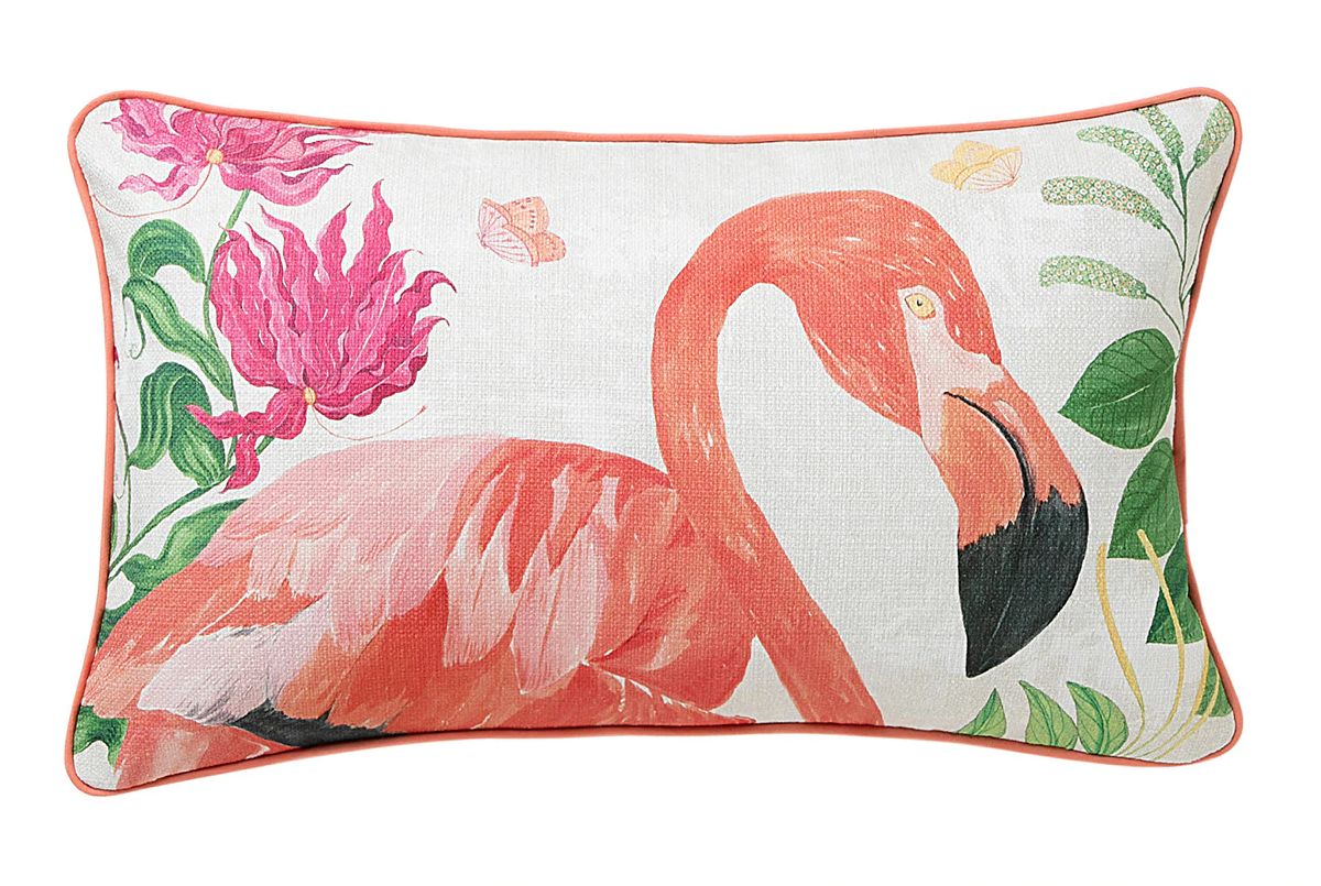 Cojín flamingos