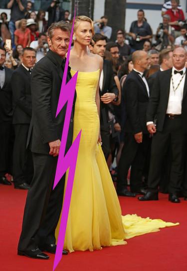 Guardad la pamela que Charlize Theron y Sean Penn han roto