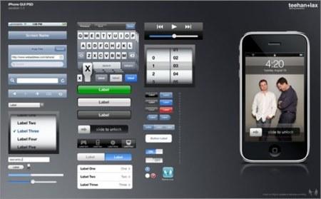 Plantilla de la GUI del iPhone e iPod Touch en Photoshop