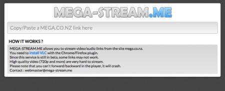Mega Stream, un sitio web no oficial que permite hacer streaming de Mega
