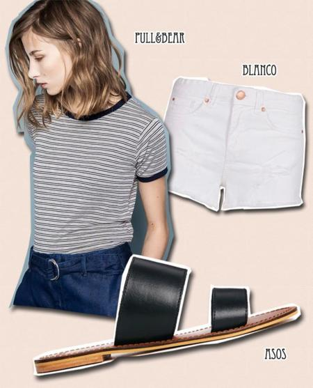 rayas basicos moda look