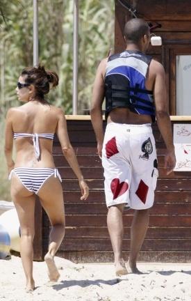 Eva Longoria y Tony Parker de vacaciones en Saint Tropez
