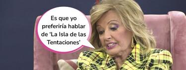 María Teresa Campos le planta cara a Emma García al ser preguntada por su polémica con Isabel Gemio en 'Viva la Vida'