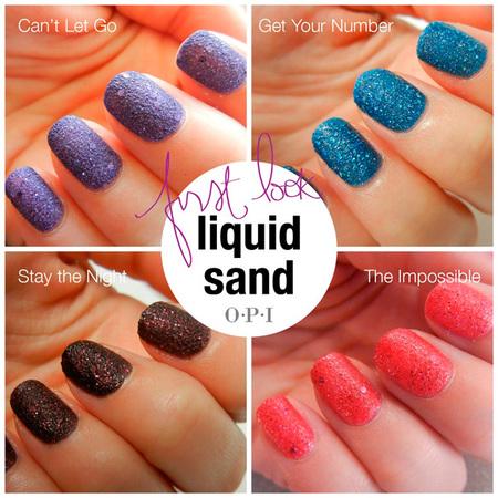 Liquid Sand de OPI, ¿nos apuntamos a las uñas granuladas?