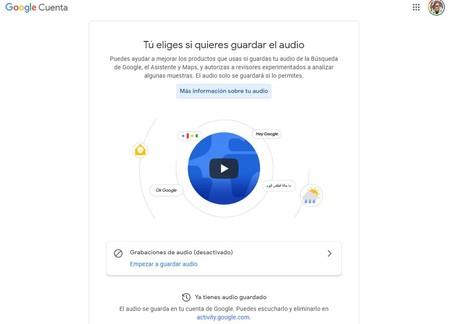 Google Asistente Audio Guardado