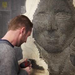 Foto 1 de 7 de la galería retratos-hechos-con-clavos en Decoesfera