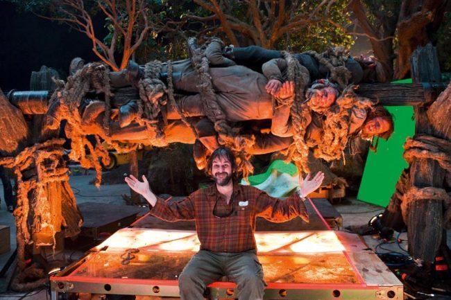 Peter Jackson en el set de El Hobbit