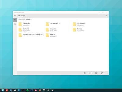 Así puedes acceder al explorador de Windows secreto con diseño Modern