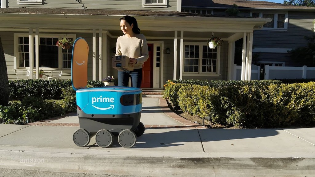 Amazon entrena la inteligencia artificial de su robot de reparto Scout recreando digitalmente vecindarios enteros