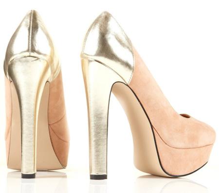 zapatos topshop dorados