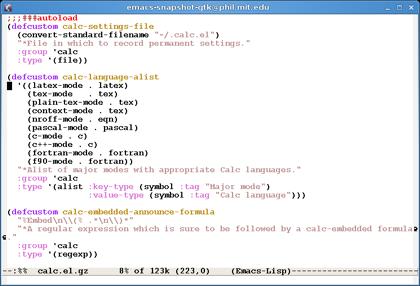 Lanzado Emacs 22
