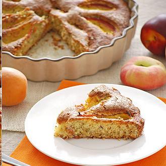 Pastel de melocotón y tomillo: receta de postre con sabor a campo