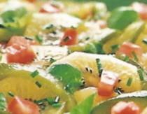 Ensalada de kiwis y pimientos