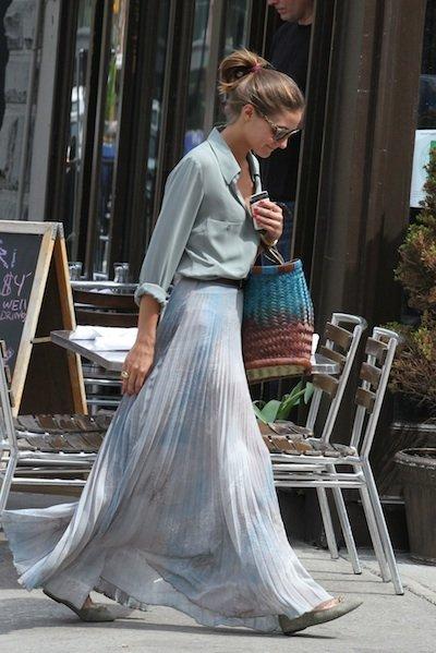 Olivia Palermo con falda larga