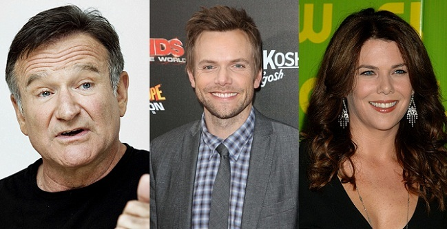 Robin Williams, Joel McHale y Lauren Graham
