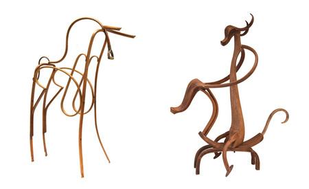 Animales hechos con muebles reciclados - 2