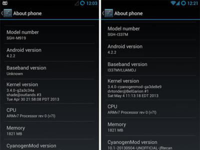CyanogenMod 10.1 llega al Samsung Galaxy S4