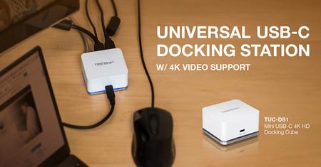 El hub TRENDnet TUC-DS1 añade conectividad extra a tu equipo portátil usando USB-C