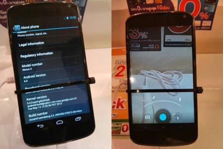 Nexus 4 con Android 4.3