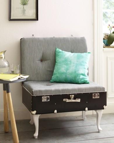 Recicladecoración: cómo hacer una silla de estilo vintage con una maleta paso a paso