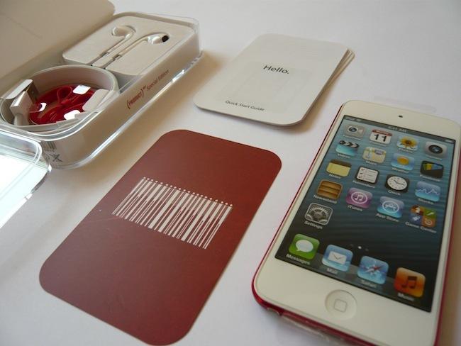 iPod touch 2012 contenido caja