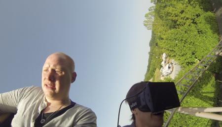 Esta idea es genial: unir una montaña rusa real con el mundo virtual de Oculus Rift