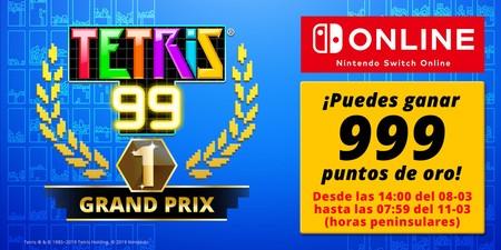 Tetris 99 celebrará su campeonato online Grand Prix para optar a un premio de 999 puntos de oro de Nintendo