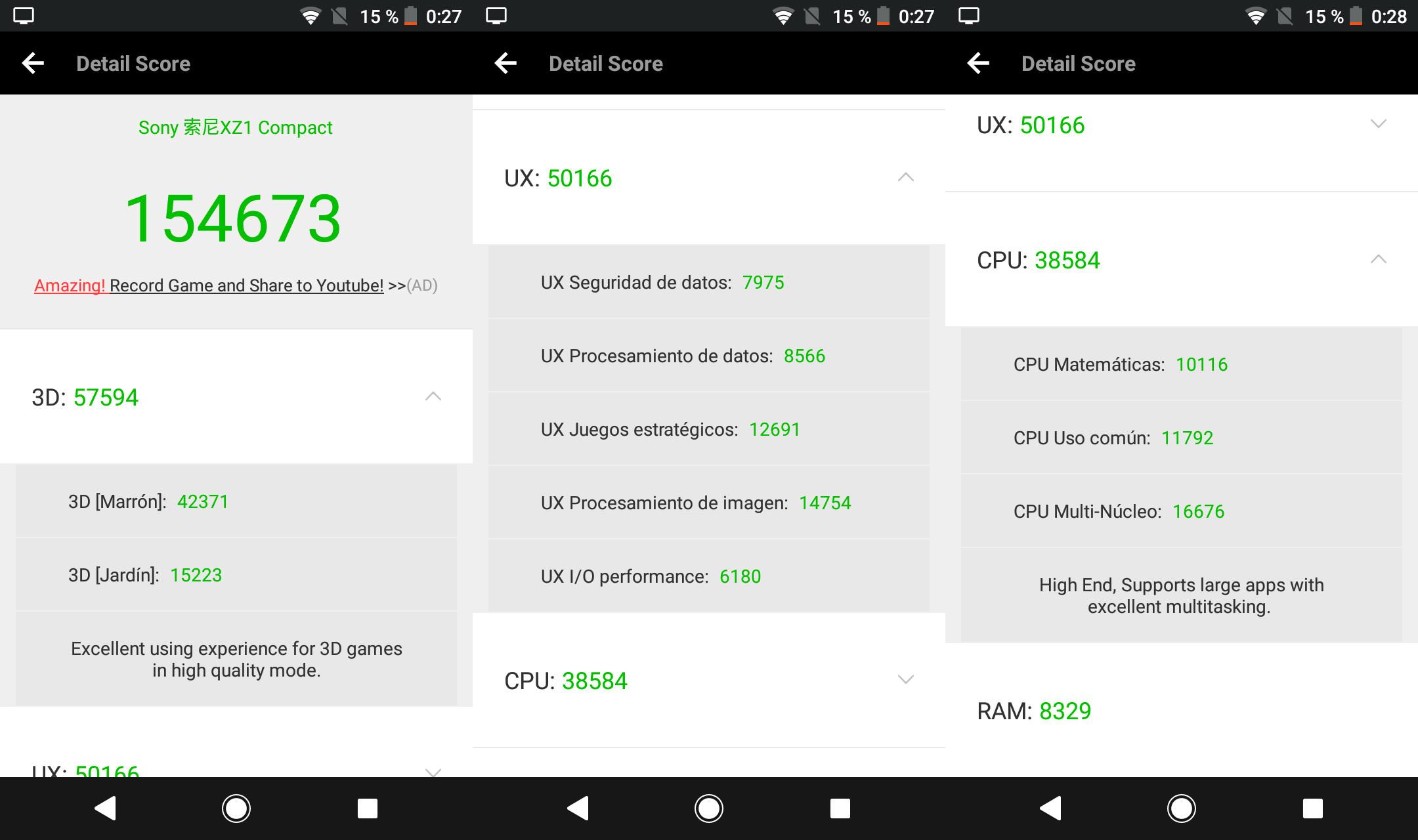 Foto de Sony Xperia XZ1 Compact, benchmarks (1/5)