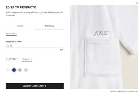 La Personalizacion De Prendas Ahora Hasta En El Bano Asi Es El Nuevo Servicio En Las Batas De Zara Home