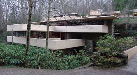 casa de la cascada - vista desde el acceso