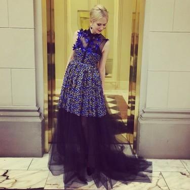 Indre Rockefeller confía (de nuevo) en Delpozo para la alfombra roja de la Gala del Met 2015