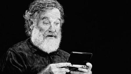Tributo a Robin Williams creado con Art Academy: Sketchpad