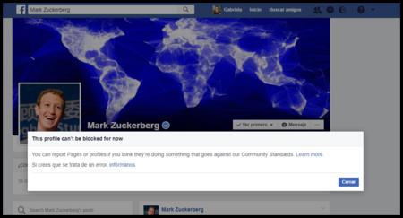 En Facebook puedes bloquear a cualquiera, pero no a Mark Zuckerberg ni a Priscilla Chan