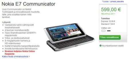 Nokia E7 asoma la cabeza en Europa