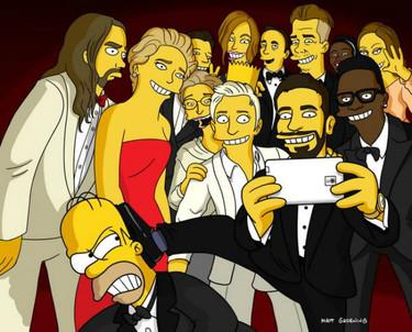 Ni los Simpsons se pudieron resistir a la autofoto... esto va así