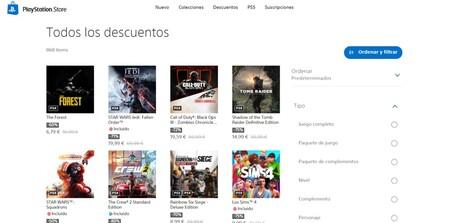 La PlayStation Store se actualiza y añade finalmente filtros de búsqueda para su versión web