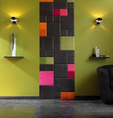 Decorar tu pared con los azulejos en piel de Cuir au Carre