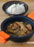 Contramuslos de pollo en salsa de shichimi togarashi. Receta