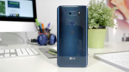 LG V30 trasera cristal limpio