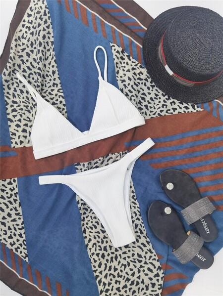 Bikini Triangular Blanco
