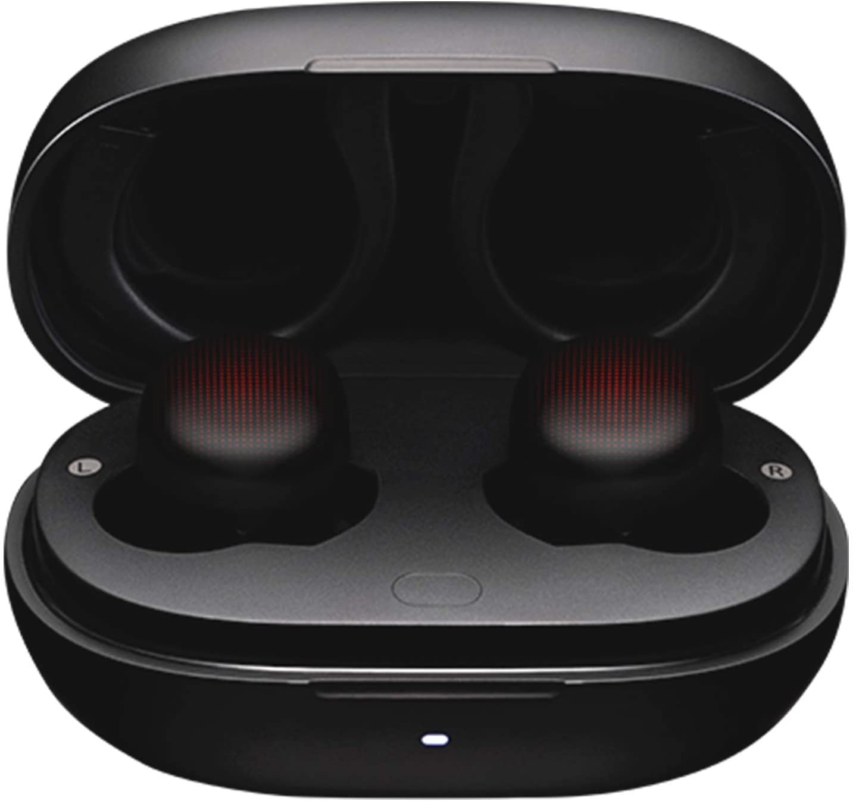 Amazfit PowerBuds Auriculares Deportivos inalámbricos con monitorización de la frecuencia cardíaca Durante Ejercicio, Ganchos de Oreja magnéticos y Sonido Superior Bluetooth 5.2 con micrófono Negro