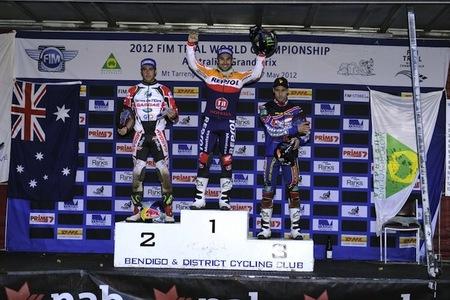 Podio Mundial Trial 2012 Australia