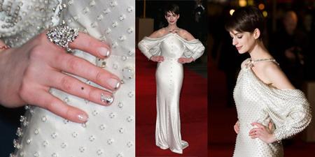 """El """"Nail Art"""" a la orden del día, y Anne Hathaway su mejor embajadora"""
