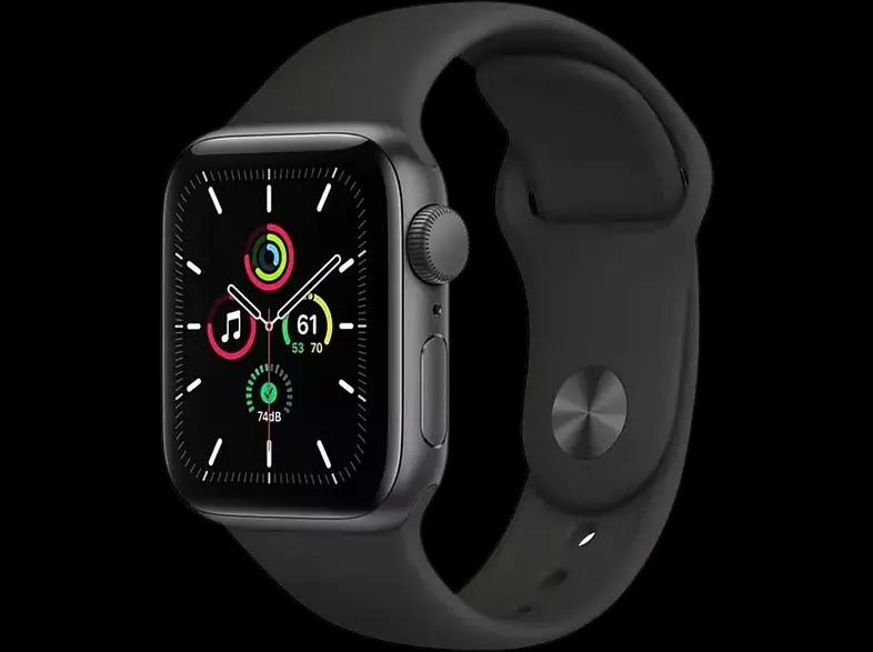 REACONDICIONADO Apple Watch SE, GPS , 40 mm, Caja de aluminio en gris espacial, Correa deportiva negra