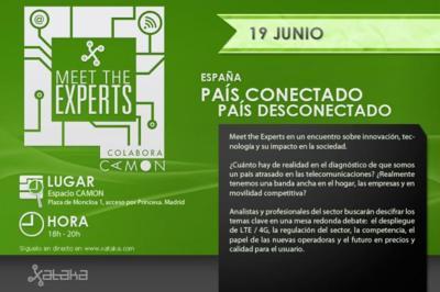 """Todavía estás a tiempo de venir al Meet The Experts """"España país conectado, país desconectado"""" de hoy"""