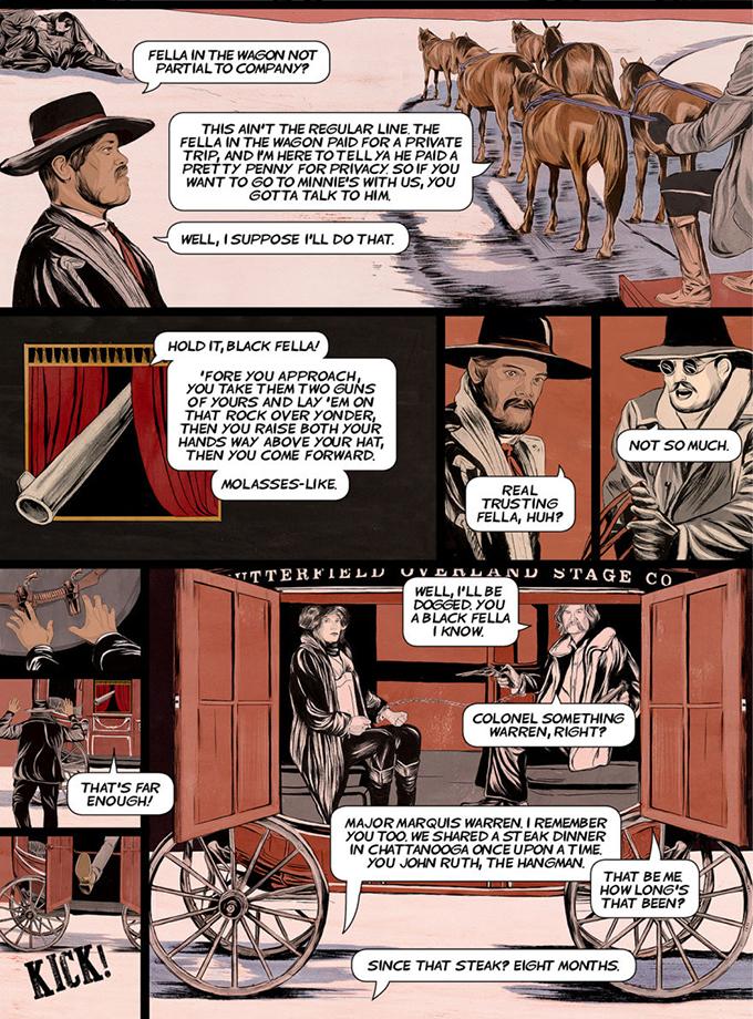 Foto de 'The Hateful Eight', cómic del principio de la historia (3/8)