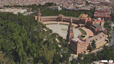 Vista Flyover de los Mapas de Apple (Sevilla)